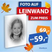 Portrait Leinwand s/w